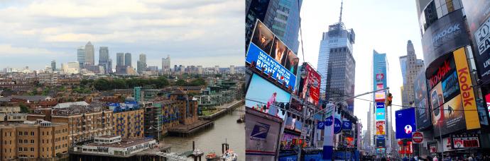 ロンドンとニューヨーク
