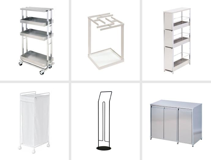 足立製作所の美容室向けステンレス用品
