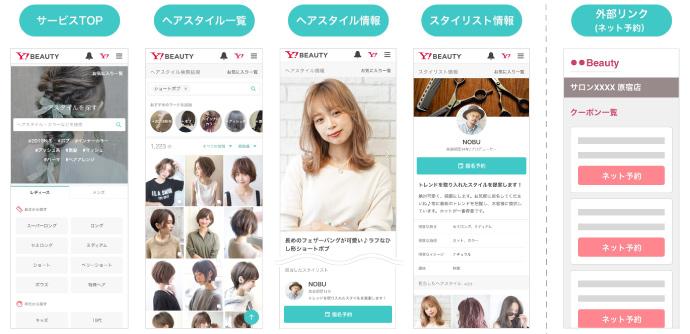 「Yahoo! BEAUTY」の画面イメージ