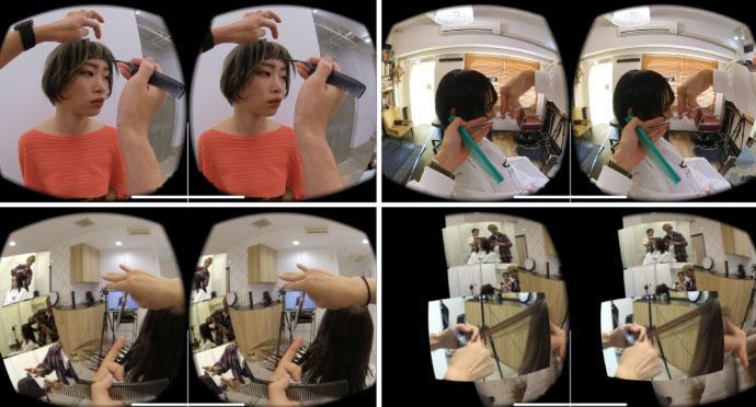 hairVRは講師役の美容師目線