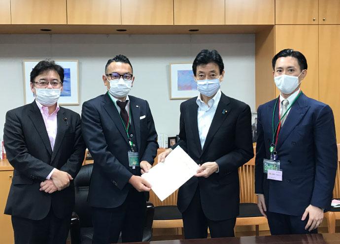 日本美容サロン協議会が西村大臣に要望書