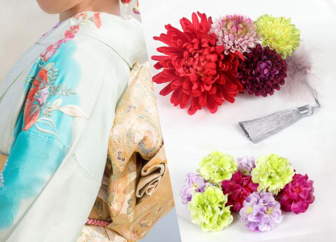 初詣・成人式の装いを華やかに! 高級造花の髪飾り「フラワーマルシェ」