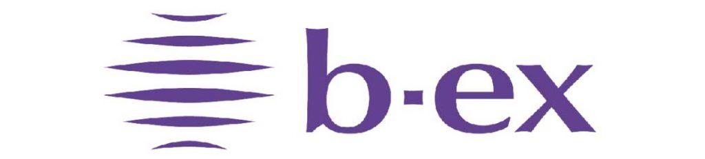ビューティーエクスペリエンスが「b-ex」(ビーエックス)に社名変更したことによる新ロゴ