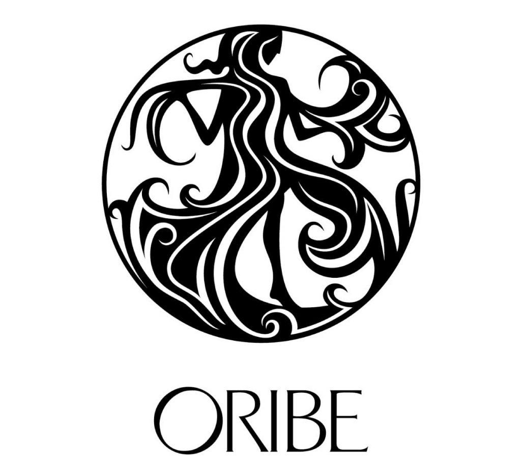 髪の女神をイメージしたORIBEのブランドロゴ